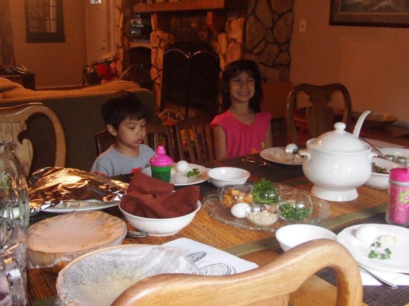 Kids at dinner