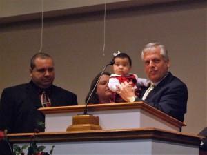Dad dedicating Hannah