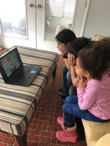 Kids Watching Video of Paul